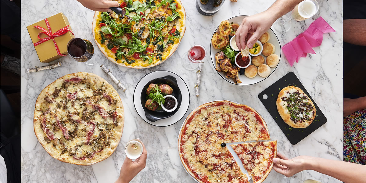 Pizza Express Christmas 2019 menu