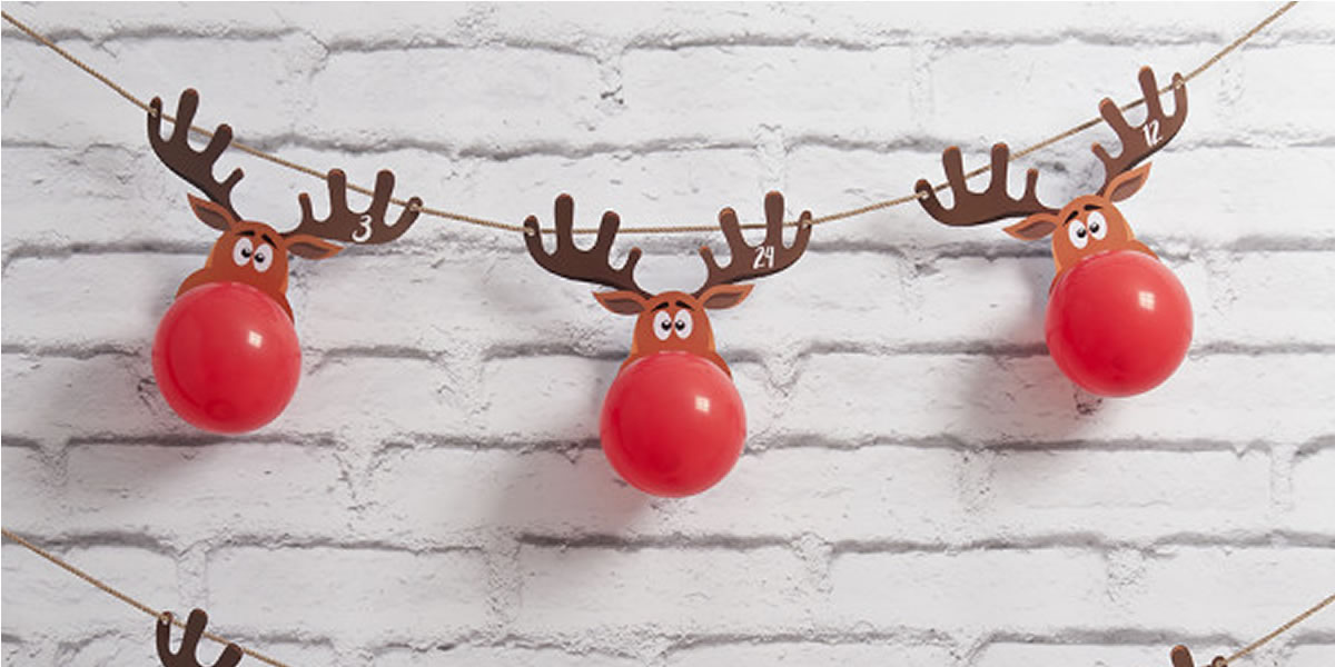 Reindeer Balloon Advent Calendar