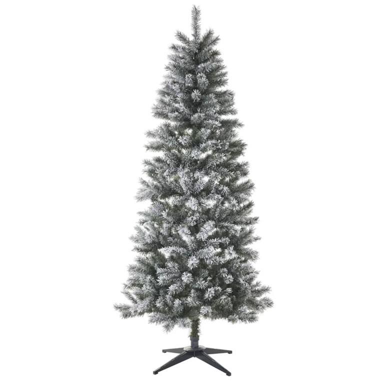 wilko 7ft Flocked Fir Christmas Tre