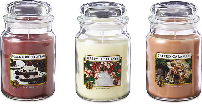 Aldi Scentcerity Large Jar Candle selection
