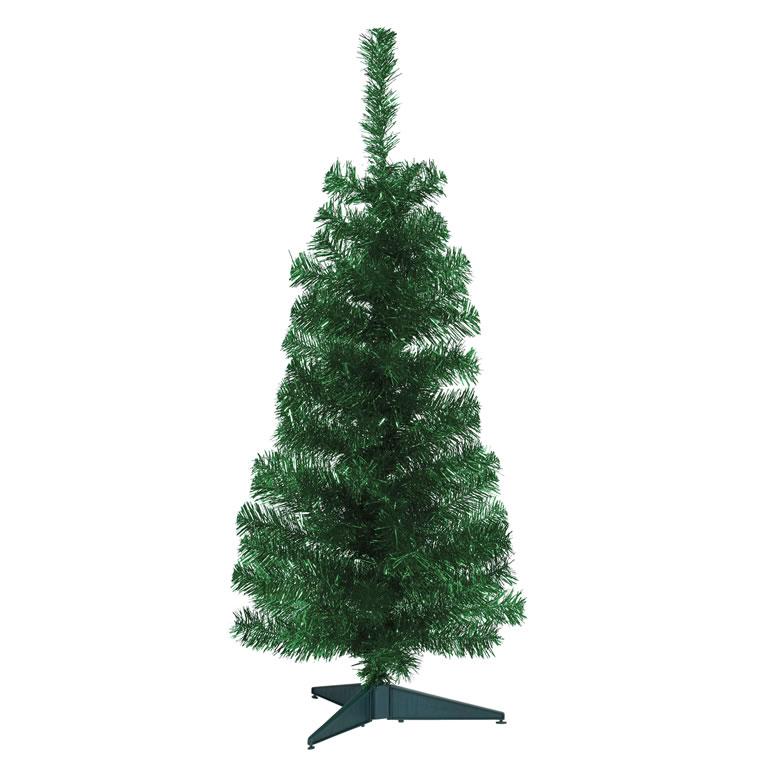wilko Green Tinsel 3ft Tree