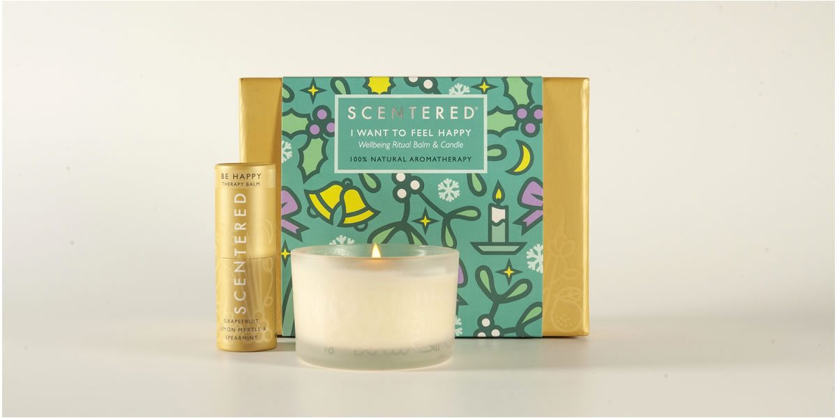 Scentered I want to Feel Happy Christmas Gift Set