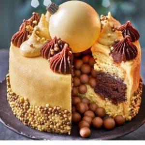 Tesco Finest Chocolate Orange & Maple Bauble Cake, £15