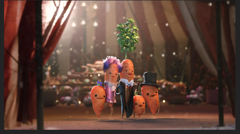 Aldi Kevin the Carrot and family 2019 Christmas advert