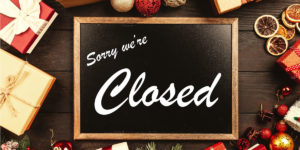 Sorry we're closed store