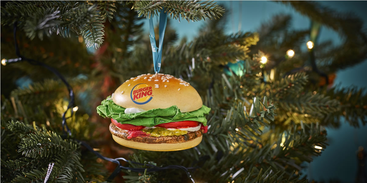 Deliveroo Burger King Bauble