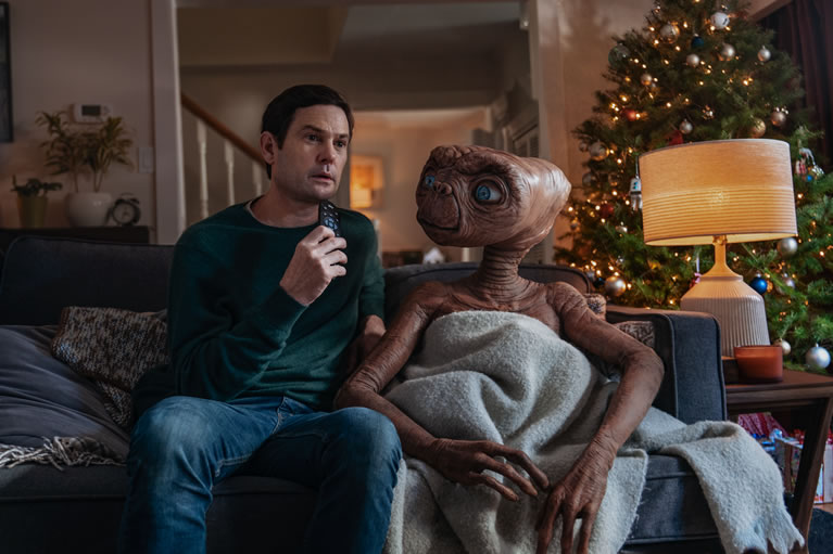 SKY E.T and Elliott using Sky TV remote