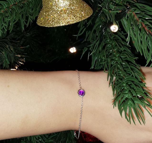 Hersey & Son Birthstone Silver Bracelet
