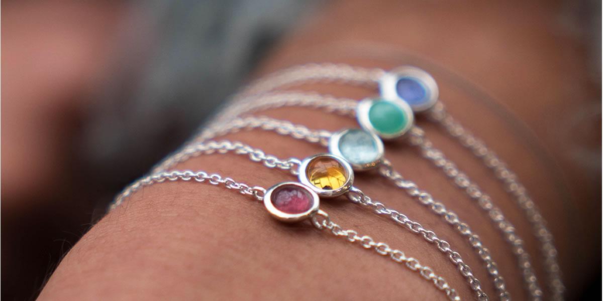Hersey & Son's Birthstone Silver Bracelet