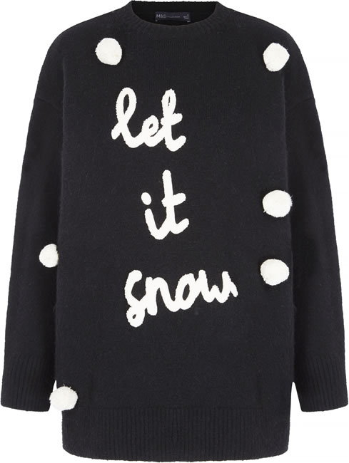 M&S Collection Let It Snow Christmas Jumper: Was £25 - Now £15
