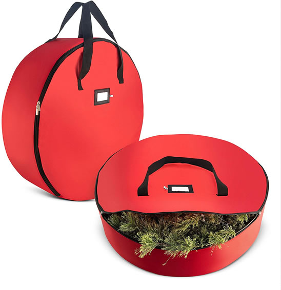 Image of Christmas wreath bags
