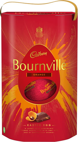 New Bournville Orange Dark Chocolate Egg