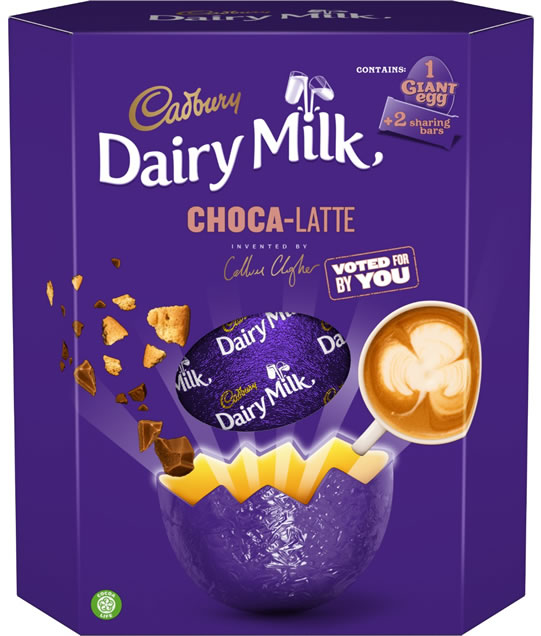 Cadbury Dairy Milk Choca-Latte Giant Easter Egg, RRP £11.99