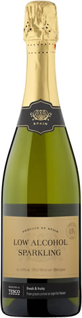 Tesco Low Alcohol Sparkling White Wine - £2.75