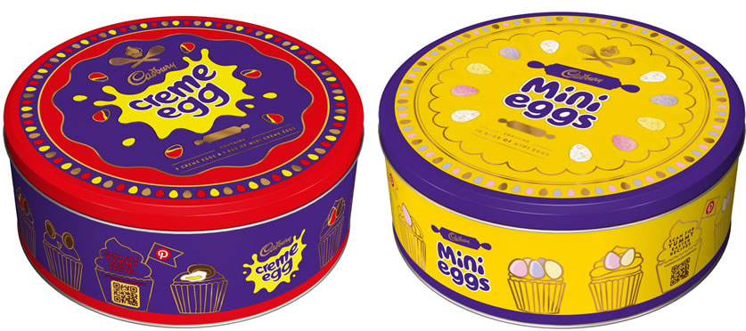 Cadbury Creme Egg Tin and Cadbury Mini Eggs Tin