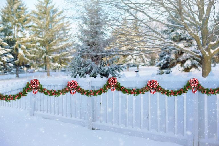 Garlands On Fence