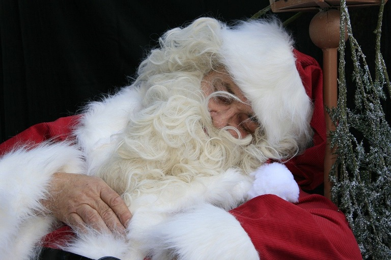 Image of Santa sleeping