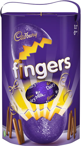 Cadbury Dairy Milk Chocolate Egg With Mini Fingers