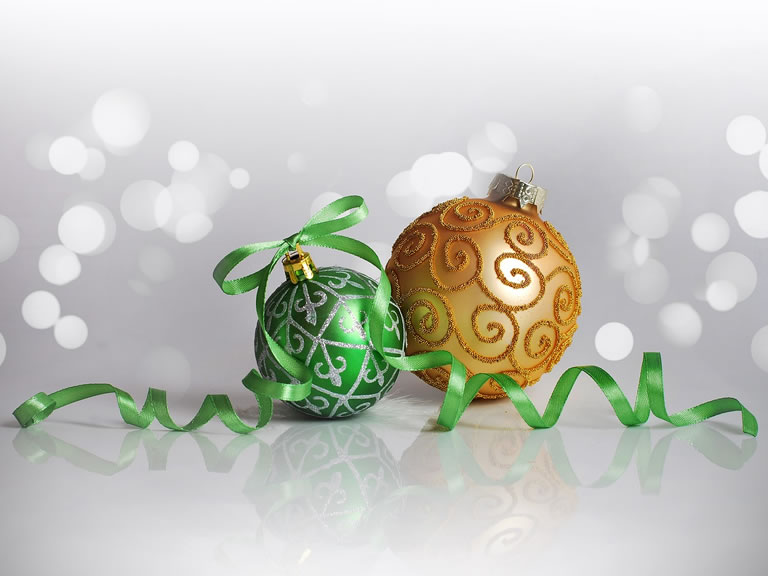 Image of green decorations