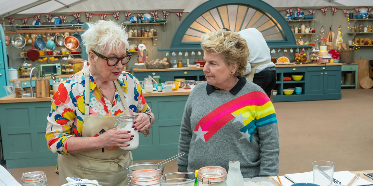 Jenny Eclair The Great Celebrity Bake Off for Stand Up To Cancer