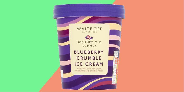 Waitrose & Partners Blueberry Crumble Ice Cream