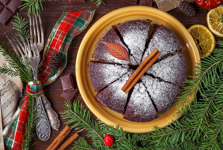Image of Christmas cakes