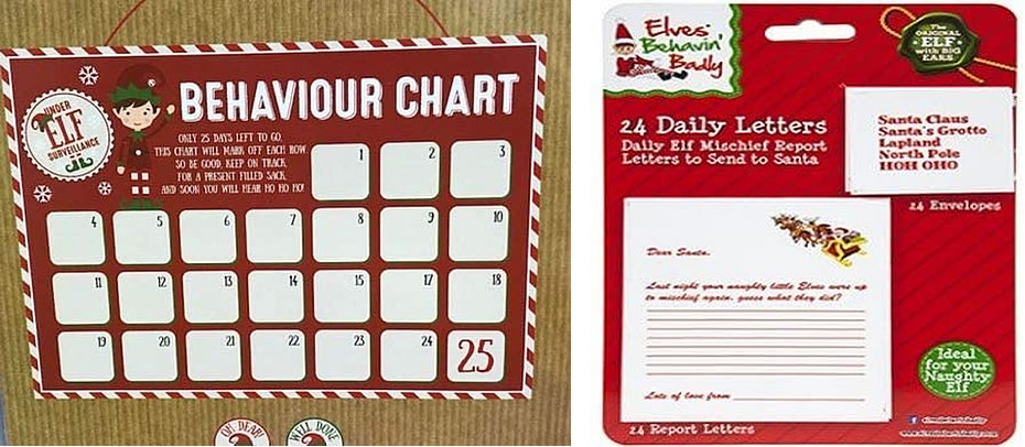 Image of elves chart and letters