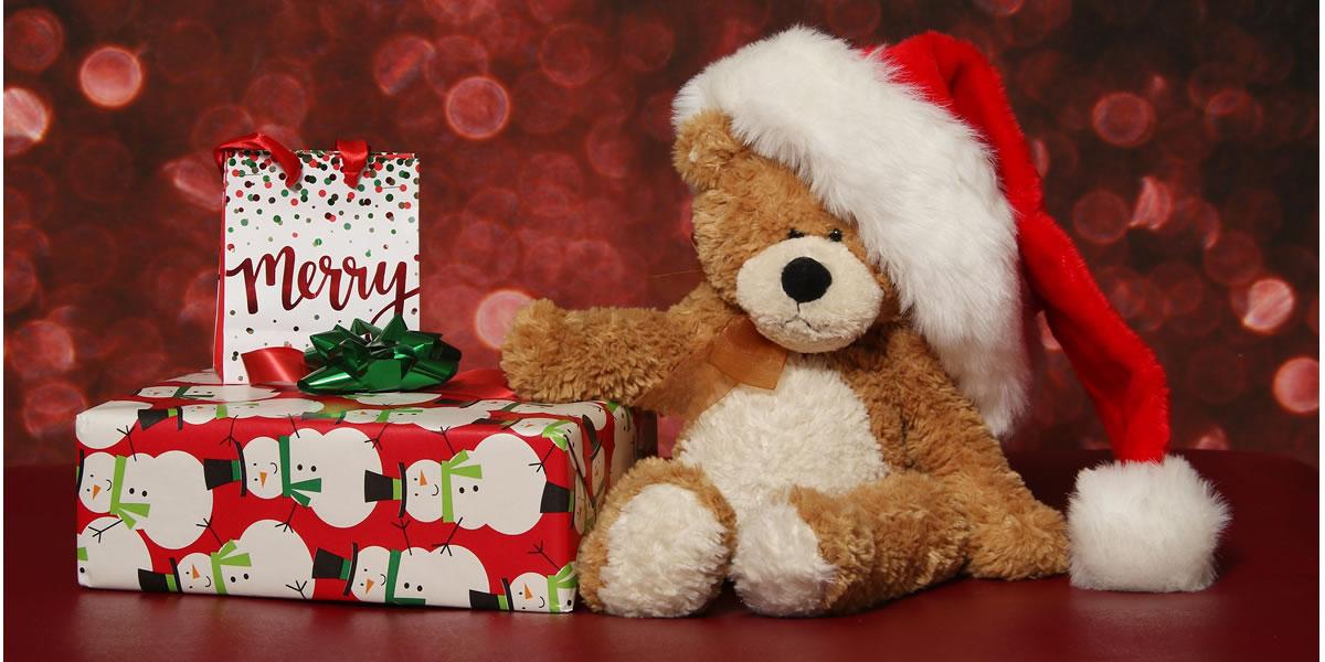 Teddy bear at Christmas