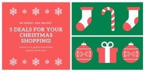 Christmas shopping UK deals