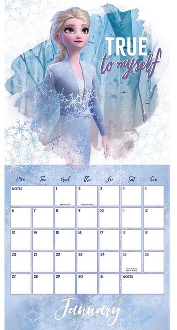 Frozen 2 Studio Calendar