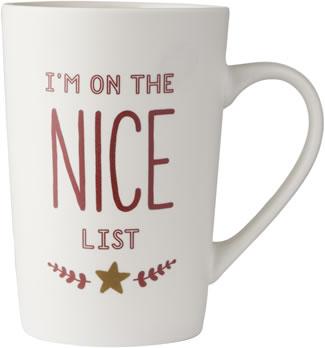 I'm On The Nice List Mug