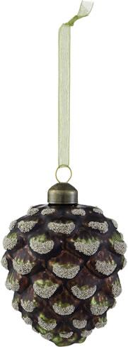 Rococo Green Pinecone Ornament
