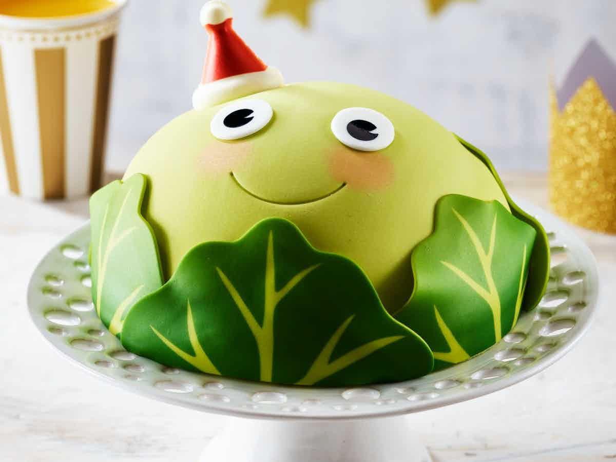 Asda Christmas 2020 - Bruce the Brussel Sprout cake