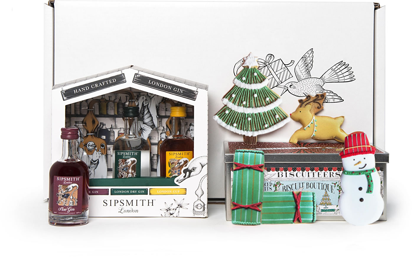 Image Of Biscuiteers Biscuits And Gin Gift Set