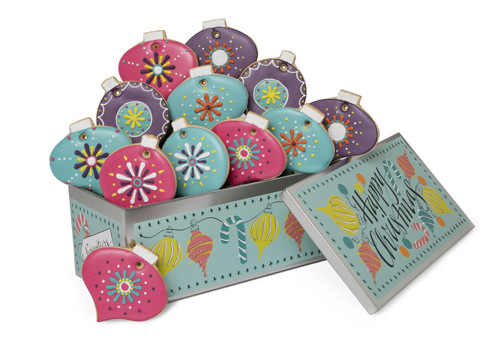 Image Of Biscuiteers Christmas Decorations Tin