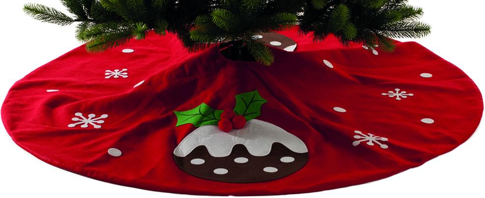 The Seasonal Aisle Christmas Pudding Tree Skirt