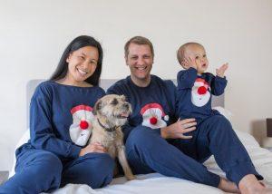 Family Christmas Pyjamas Santa Print