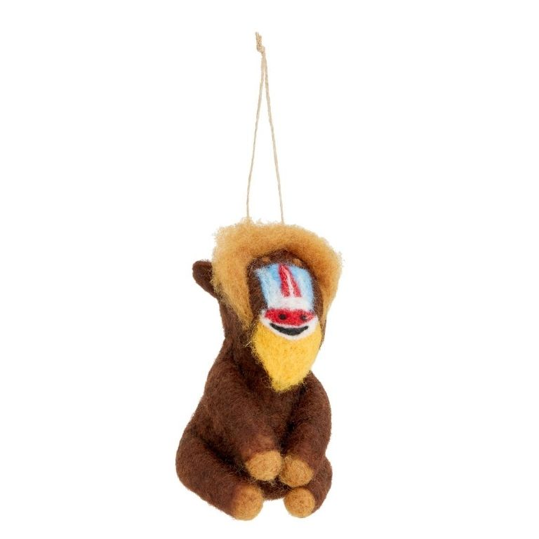 John Lewis & Partners Post Impressionism Baboon Tree Decoration