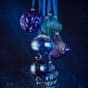 homebase Purple Fish Ornament