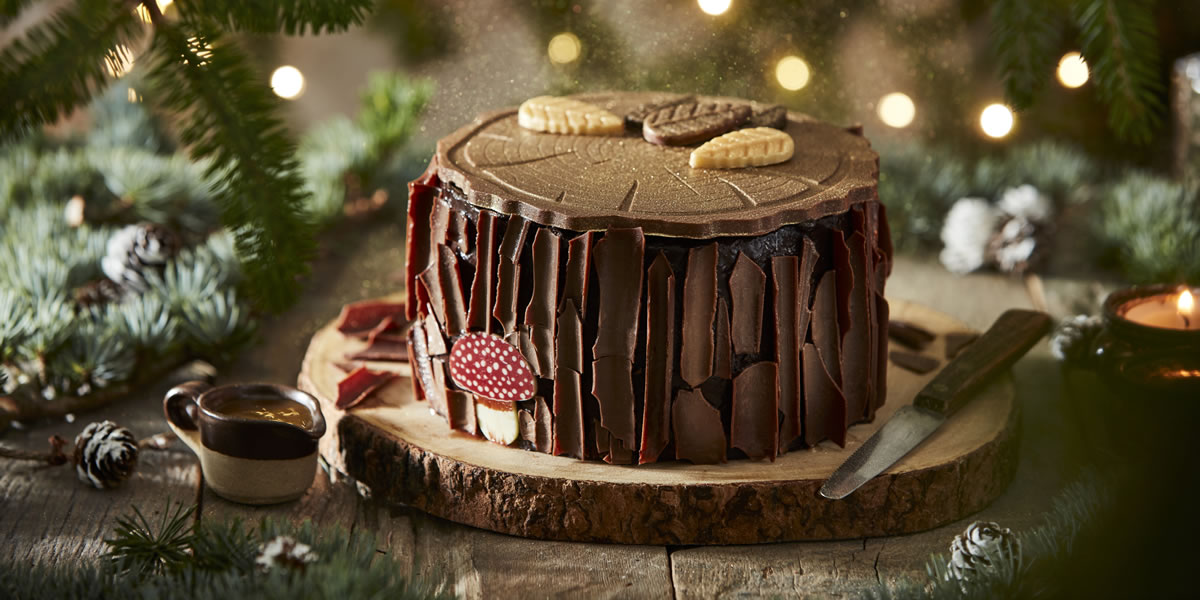 Image Of Iceland Sticky Toffee Winter Forest Log