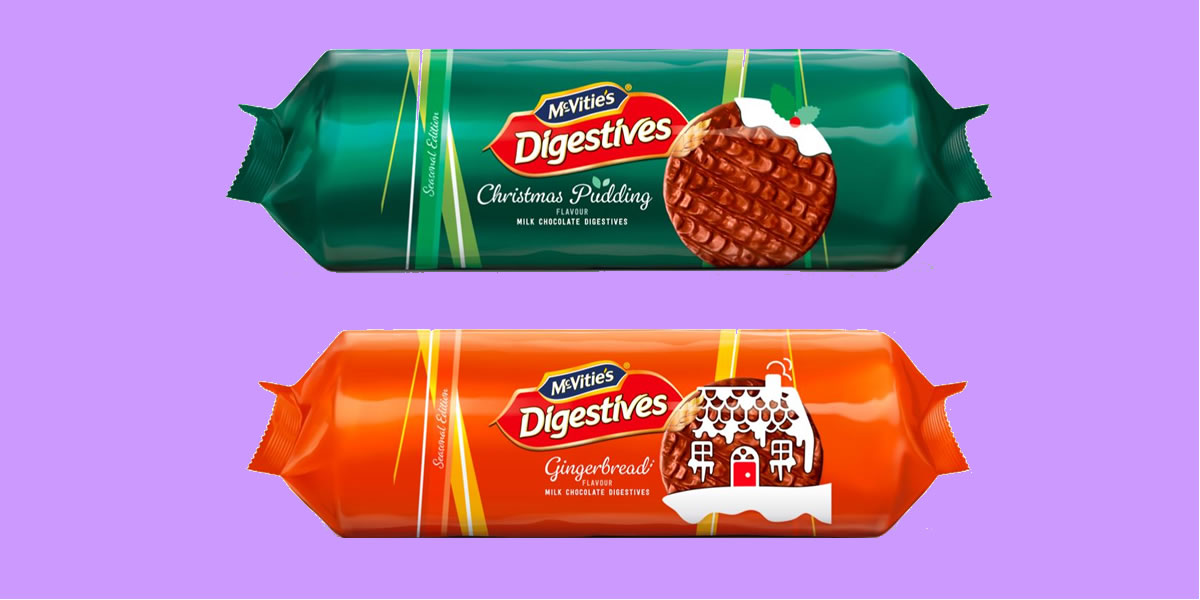 McVitie's Gingerbread And Christmas Pudding Biscuits