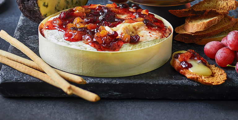 Tesco Baking Brie With Fruits And Glaze