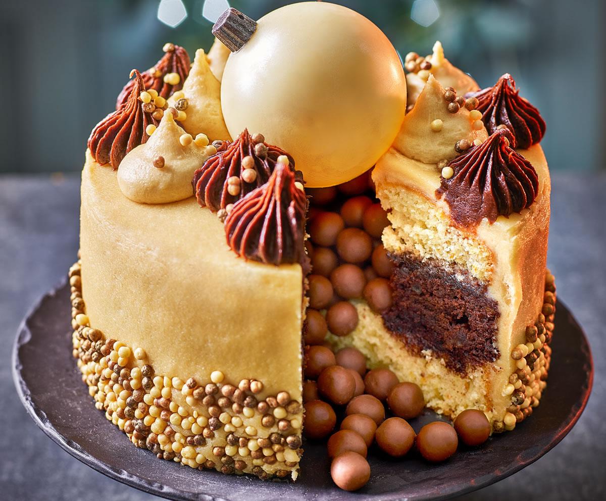 Tesco Finest Orange And Maple Bauble Cake