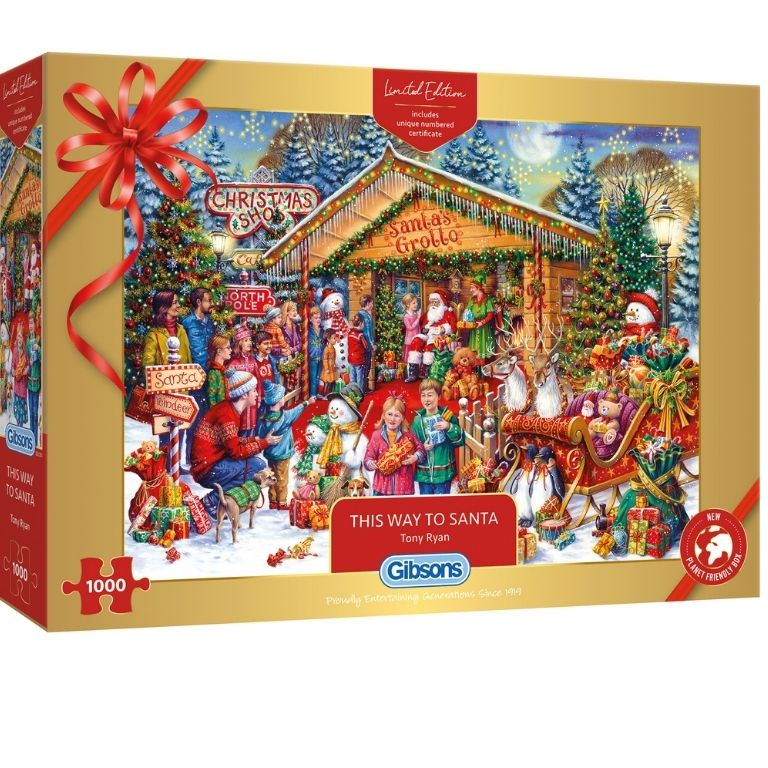 Gibsons This Way To Santa Limited Edition Jigsaw RRP £17