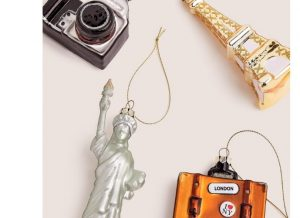 Marks and Spencer - Set of 4 Travel Glass Baubles