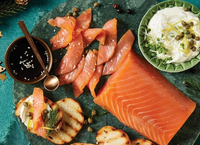 The Best Triple Smokes Tsar Cut Salmon with Soy Dressing.