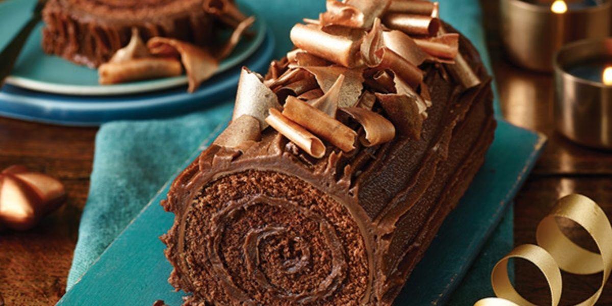 The Best Chocolate Fudge Yule Log