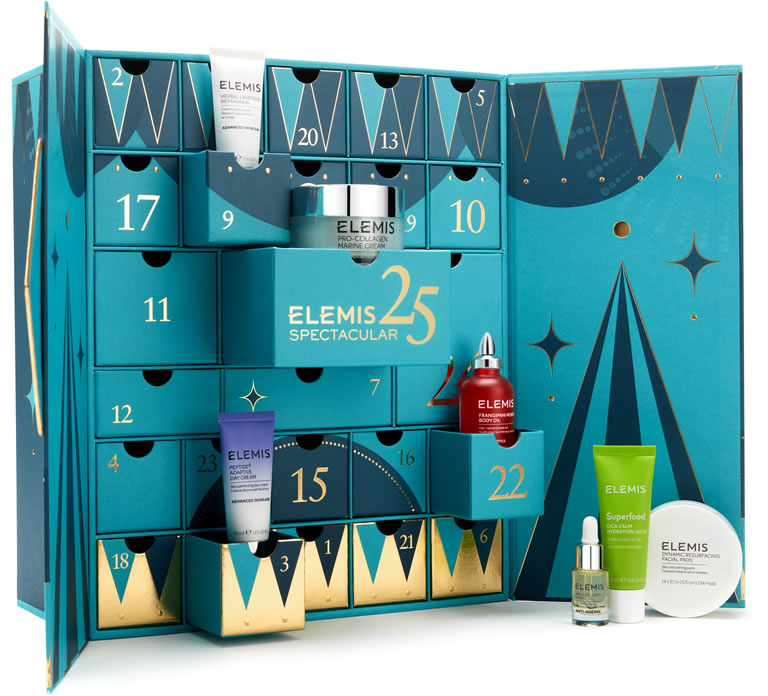 Image Of Elemis 25 Days Of Spectacular Skin Advent Calendar What Is Inside The Box