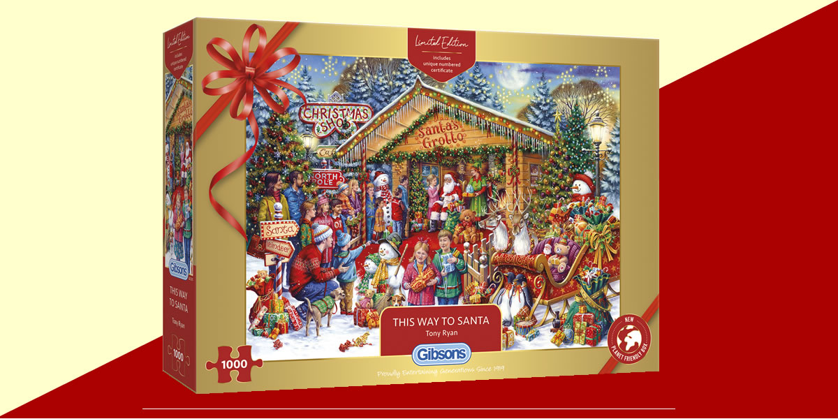 Image Of Gibsons Games This Way To Santa Jigsaw
