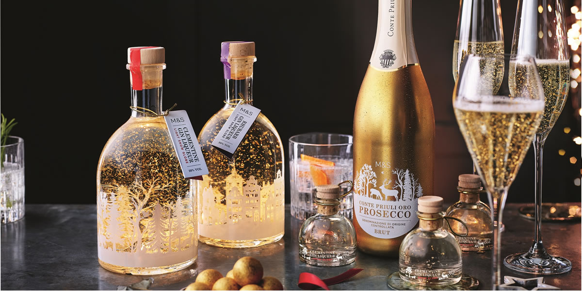 Image Of Marks And Spencer Light Up Gin Liqueur